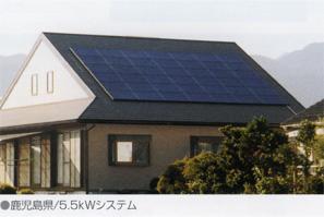 太陽光画像:切妻屋根2