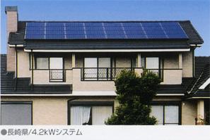 太陽光画像:切妻屋根3