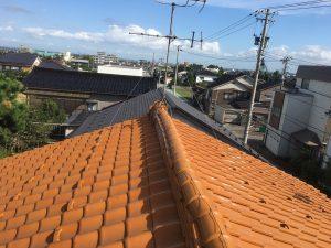 富山県立山町M様邸大棟部葺き直し工事