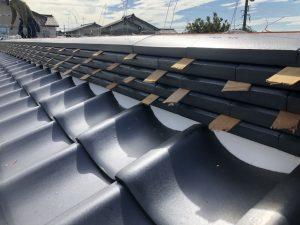 富山市瓦屋根葺き替え工事