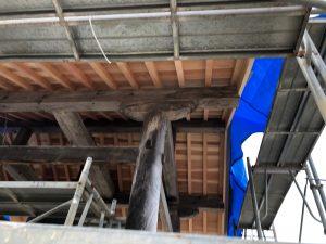 氷見市 鐘楼堂屋根改修工事